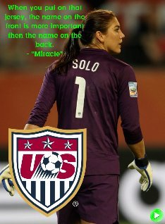 There is no 'I' in Team- Hope Solo Motivation Series #43