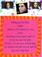 lyrics to rolling in the deep's thumbnail